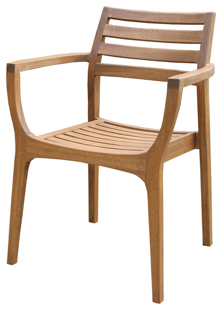 Kestrel Wooden Stacking Chairs, Set Of 4.