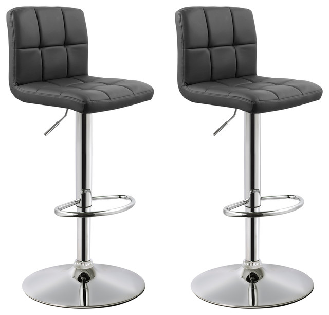Morrison Faux Leather Adjustable Bar Stools Set Of 2