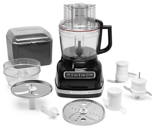 ExactSlice System 11-Cup Food Processor, External Adjustable Lever, Onyx Black
