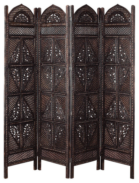 Wood Panel Screen Modern Screens And Room Dividers By - 4 panel room divider
