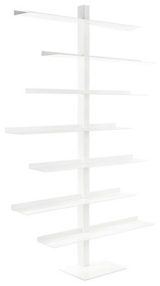 Metro Steel Bookcase, White.
