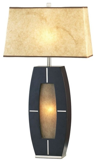 Nova Lighting Delacy Dark Brown Transitional Table Lamp w/ 1 Light ...