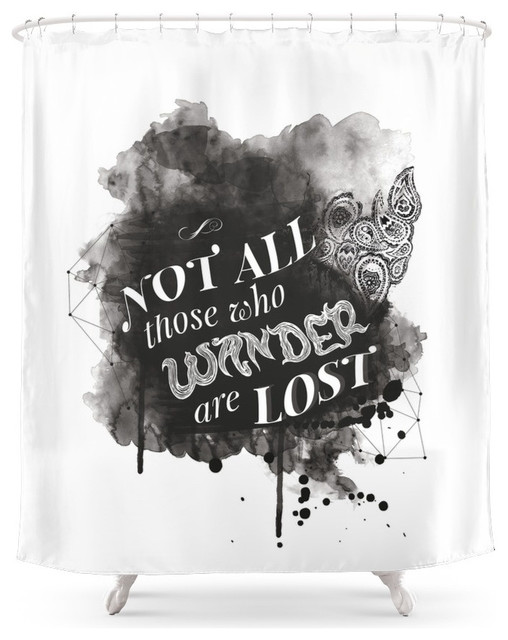 Not All Those Who Wander Are Lost Shower Curtain Contemporary Shower  Curtains
