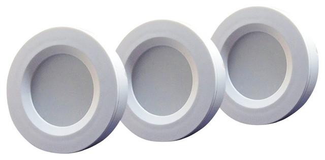 Set of 3 RGB+Warm White LED Under Cabinet Lighting Kit - 2Watt LED ...