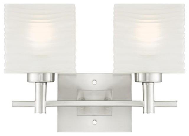 Bathroom Vanity 3 Light Fixture Brushed Nickel Bell Wall: Westinghouse Alexander 2-Lt Wall Fixture
