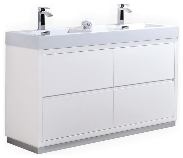 bliss sink freestanding modern bathroom vanity