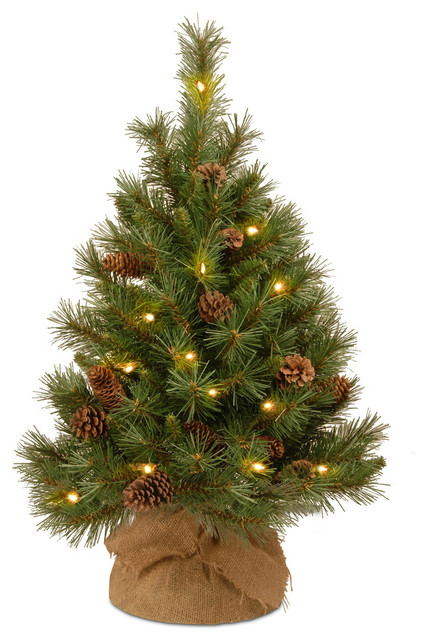 """36"""" Pine Cone Tree with Battery Operated Warm White LED Lights"""