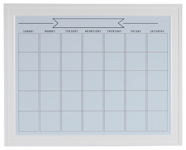 Framed Wall Calendar bosc framed magnetic dry erase calendar wall organization board