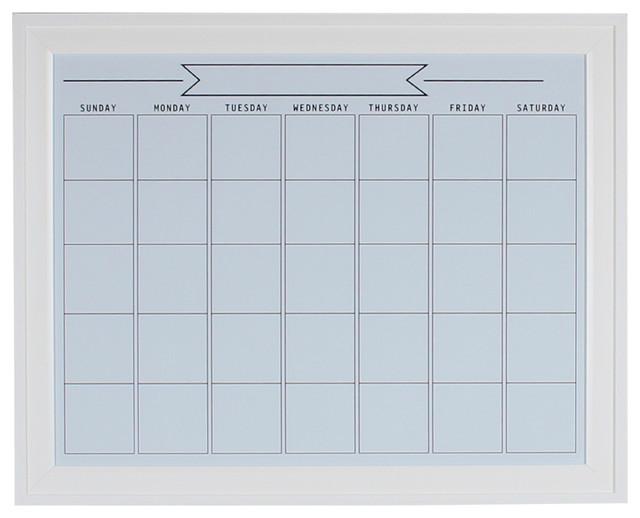 Bosc Framed Magnetic Dry Erase Calendar Wall Organization Board