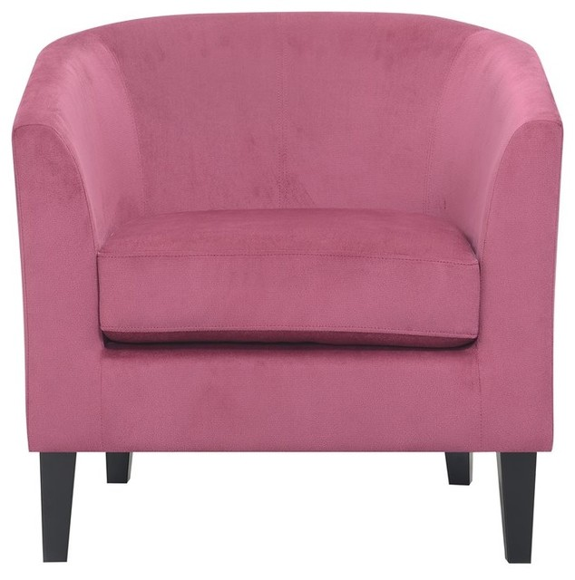 Fabulous Pemberly Row Kate Dusty Rose Accent Chair With Barrel Back Pabps2019 Chair Design Images Pabps2019Com