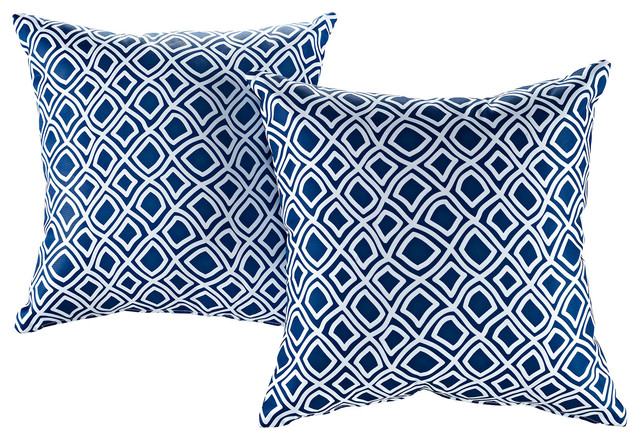 Modway Outdoor Throw Pillows, Set of 2, Balance