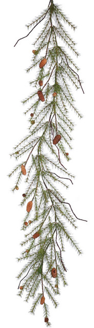 6&x27;x20 River Pine Garland With Cones.