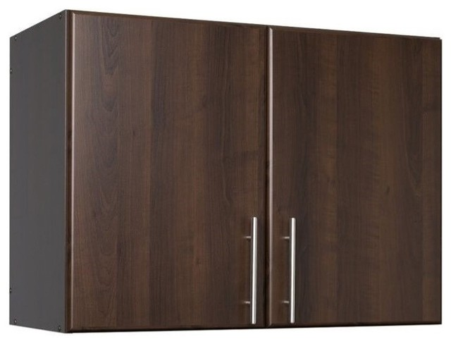 """Hawthorne Collections 32"""" Stackable Wall Storage Cabinet, Espresso - Transitional - Storage ..."""