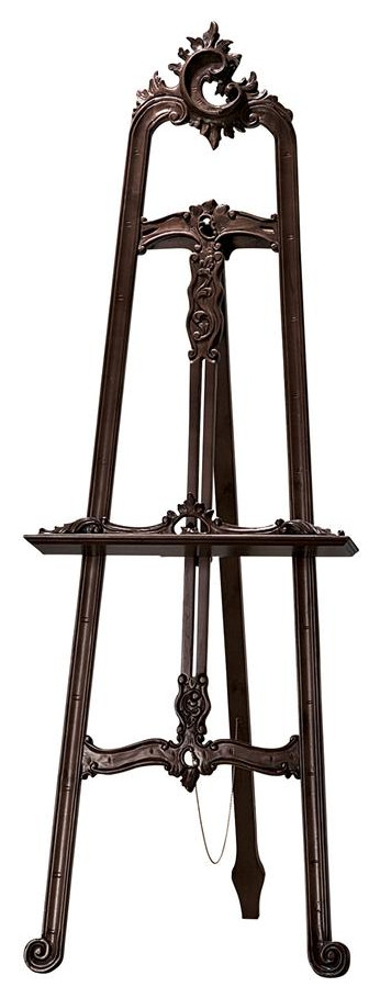 "65/"" European Replica Hardwood Carved Ornate Easel Stand"
