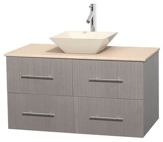 42 Eco Friendly Single Bathroom Vanity With White Man Made Stone Countertop Bathroom Vanities