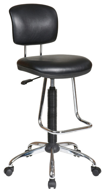 Chrome Economical Chair With Teardrop Footrest
