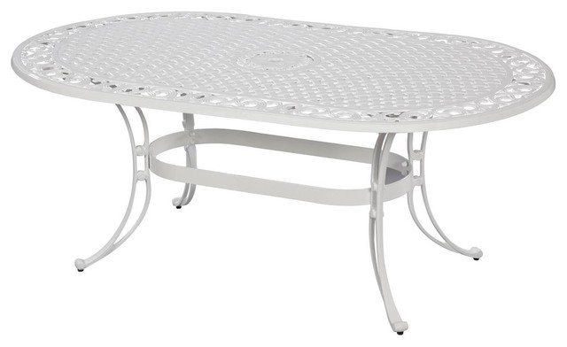 Olivier Oval Dining Table, White.