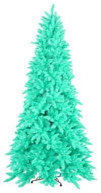 Pre-Lit Sim Seafoam Green Ashley Spruce Christmas Tree -Clear, Green Light, 10'