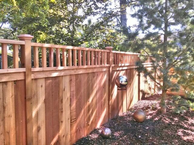 Good Neighbor Cedar Wood Privacy Fence Traditional