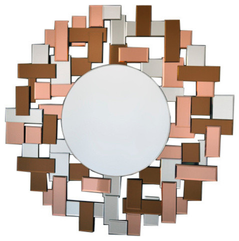 Funky And Arty Modern Round Mirror Contemporary Wall