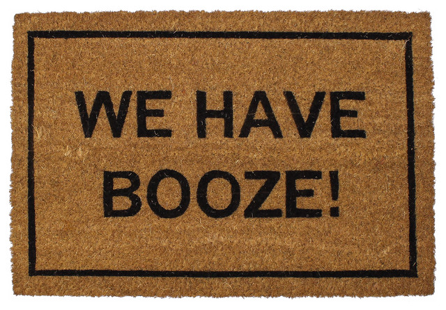 Clever doormats we have booze doormat contemporary doormats by clever doormats - Clever doormats ...