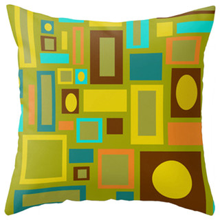 Modern Midcentury Inspired Accent Pillow - Contemporary - Decorative Pillows - by Crash Pad Designs