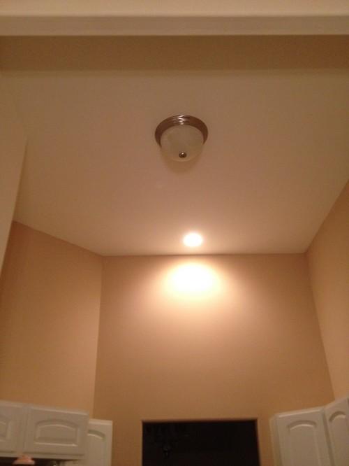 Flushmount light on vaulted ceilings aloadofball Choice Image