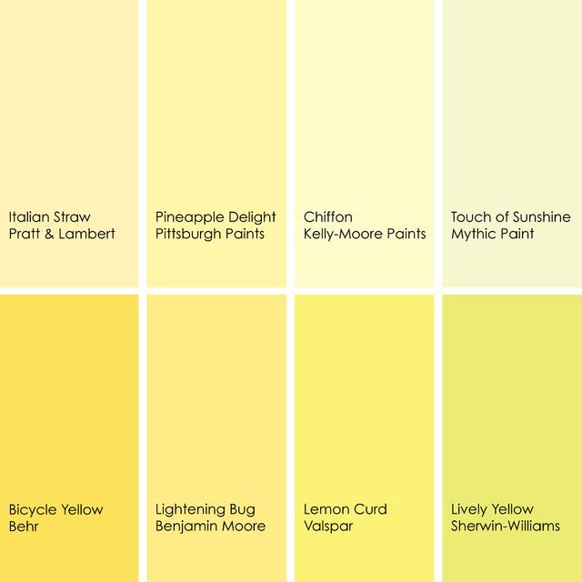 Lemon Curd Yellow Paint Room