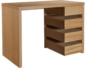 Tanna bureau compact en ch ne moderne meuble bureau et for Meuble bureau compact