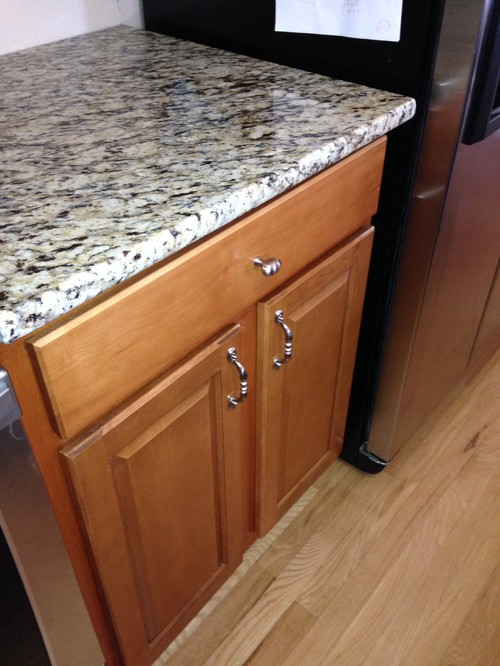 My Question Is, How Much Variance Is Acceptable In A Countertop Install? We  Had Formica Counters On These Cabinets Before And They Did Not Have This ...