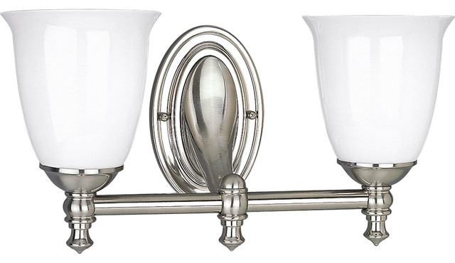 Hampton Bay 2 Light Chrome Bath Light 05659: Delta Bath Match Victorian 2-Light