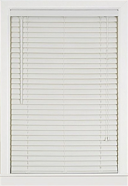 "Luna 2"" Vinyl Venetian Blind With 2"" Valance 23x64, White, 27""x64""."