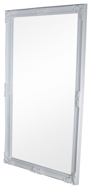 Huge Full Length Ornate White Wall / Leaner Mirror 119cm x 220cm