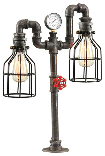 Steampunk Industrial Table Lamp.