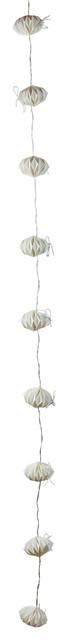 Pomax Belle Histoire White Origami Christmas Light Garland