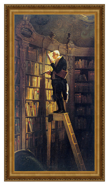 """""""the Bookworm 1850"""" Stretched Canvas Replica, 25""""x40""""."""