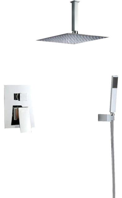EVIVA Pro Full Chrome Modern Luxury Shower-Head/Handheld & Sprayer by Eviva LLC