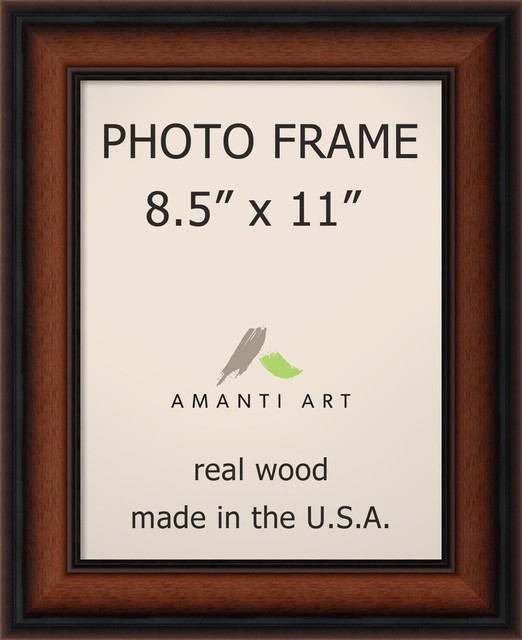 bella noce walnut photo frame 85x11 11x14 contemporary picture