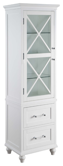 blue ridge linen tower with 2 drawers andshelves