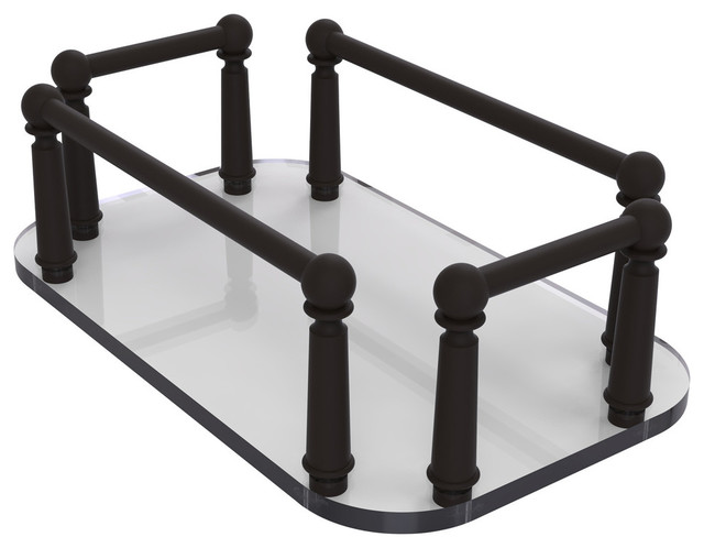 Vanity Top Gl Guest Towel Tray Antique Br Traditional Tops And Side Splashes By Avondale Decor Llc