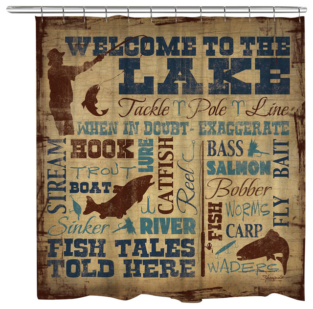 Laural Home Welcome To The Lake Shower Curtain