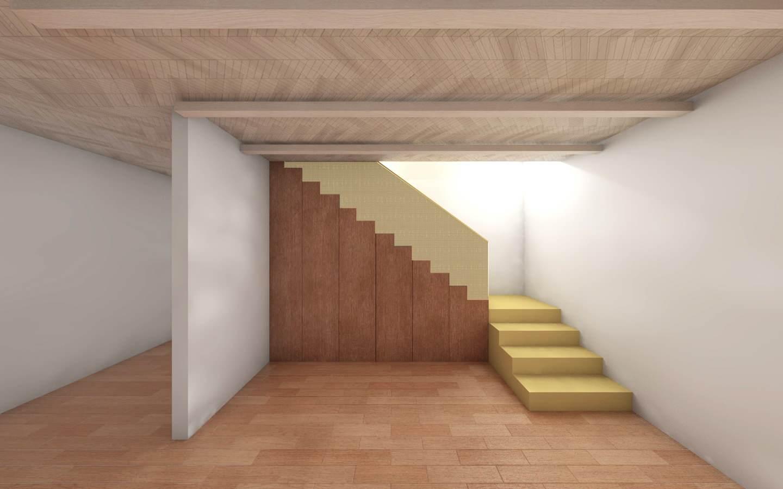 Aménagement des combles d'une maison de plein pied, option 2 l'escalier