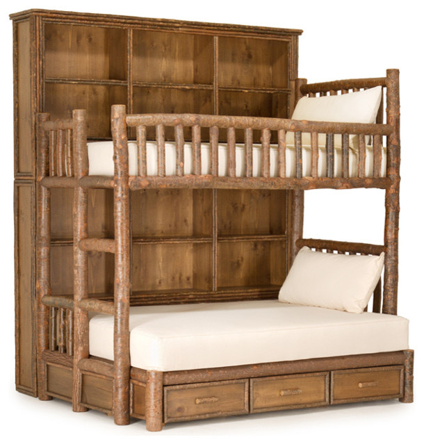 rustic custom bunk bed by la lune collection rustic bunk beds milwaukee by la lune. Black Bedroom Furniture Sets. Home Design Ideas