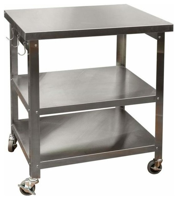 Cocina Kitchen Cart With Stainless Steel Top, 30\