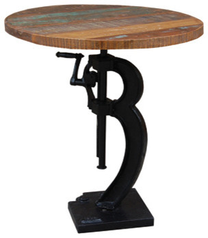 Industrial Adjustable Table Industrial Indoor Pub And Bistro Tables