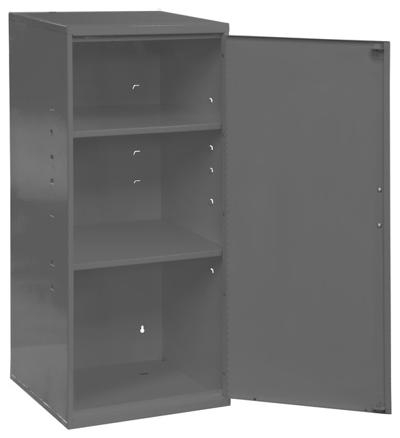 Bon Durham Gray Cold Rolled Steel Utility Cabinet, 2 Shelves