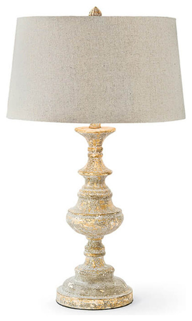 Regina Andrew Design Gesso Wood Table Lamp Farmhouse