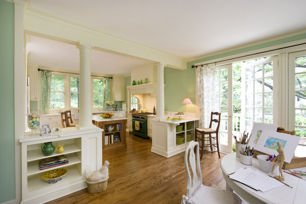 Home design - large traditional home design idea in New York