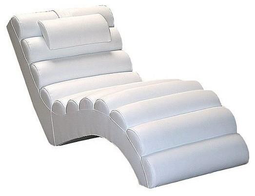 Miami Chaise Lounger, White.