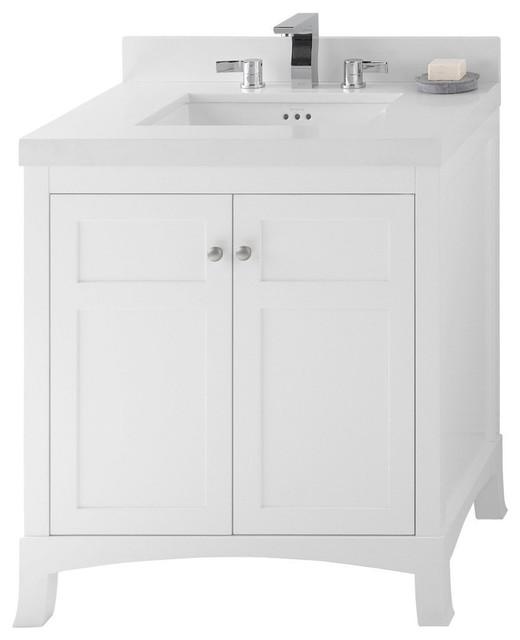 Morris Vanity Cabinet Base, White, 30.